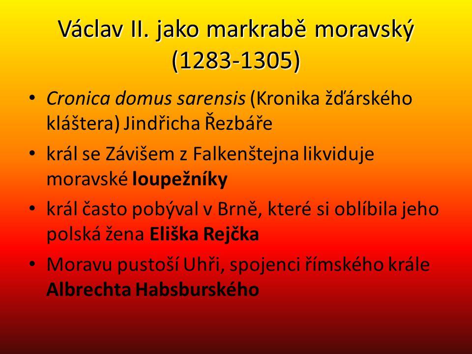 Václav II. jako markrabě moravský (1283-1305)