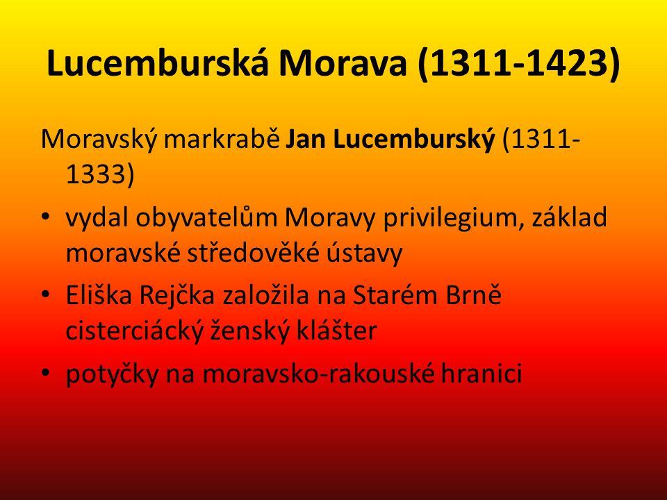 Lucemburská Morava (1311-1423)