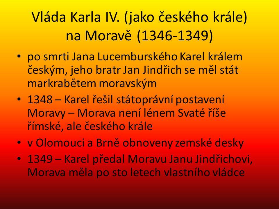 Vláda Karla IV. (jako českého krále) na Moravě (1346-1349)