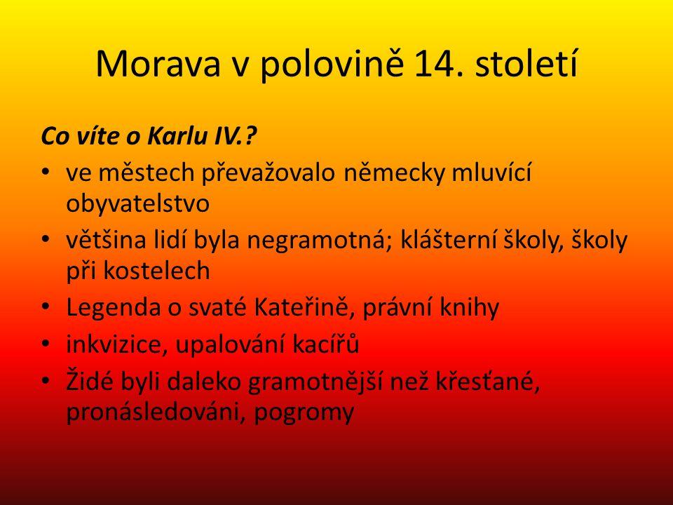 Morava v polovině 14. století