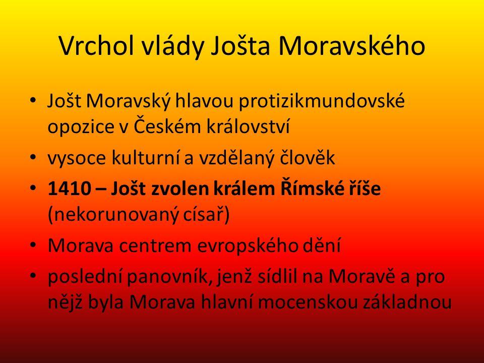 Vrchol vlády Jošta Moravského