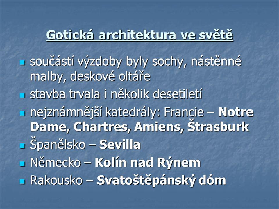 Gotická architektura ve světě