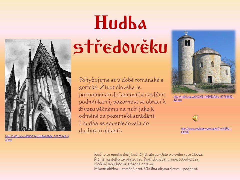 Hudba středověku.