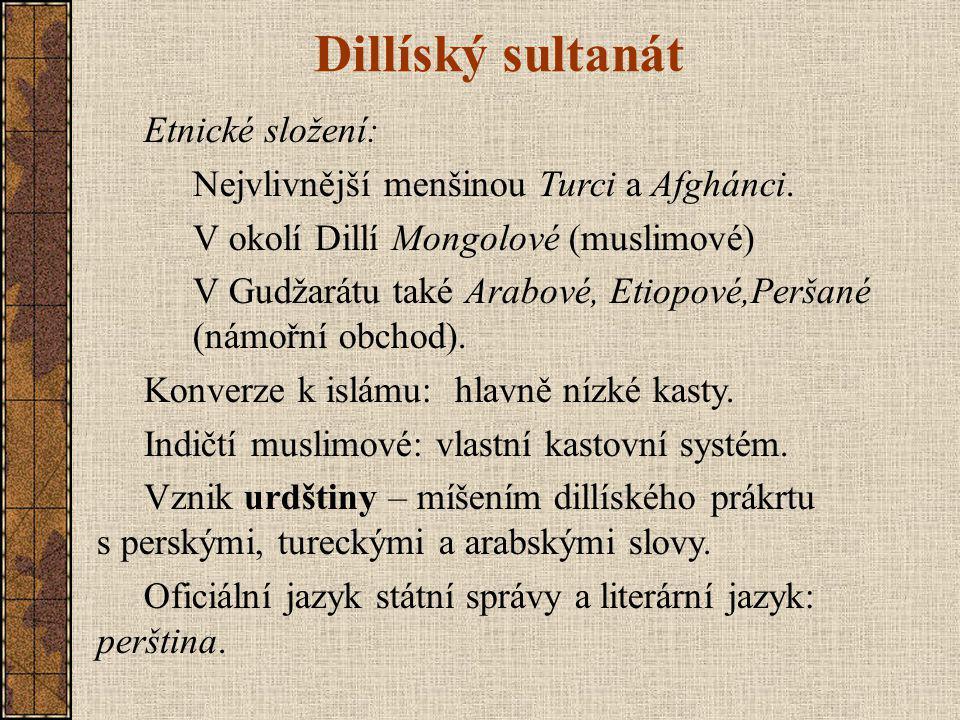Dillíský sultanát Etnické složení: