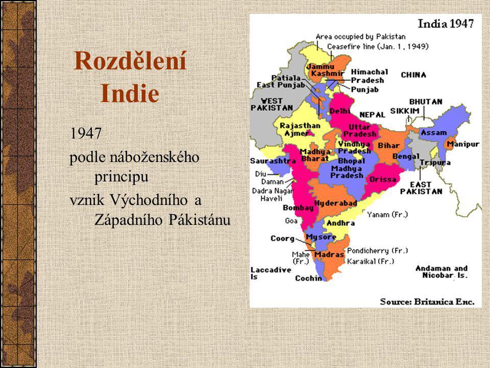 Rozdělení Indie 1947 podle náboženského principu
