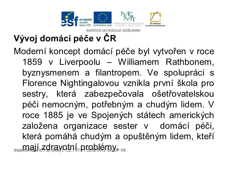 Vývoj domácí péče v ČR