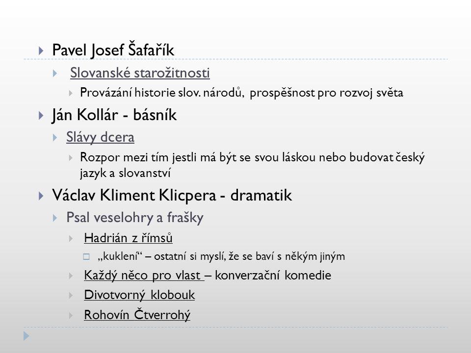 Václav Kliment Klicpera - dramatik