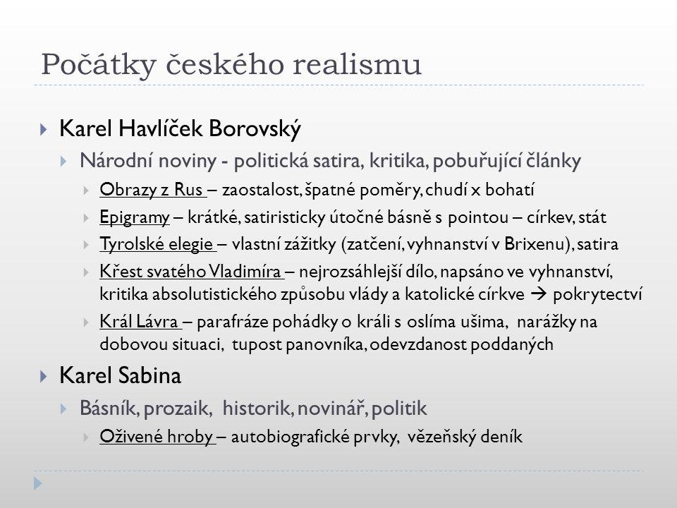 Počátky českého realismu