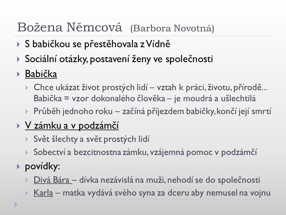 Božena Němcová (Barbora Novotná)