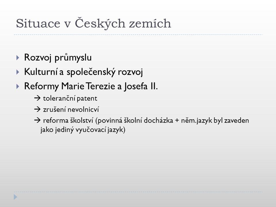 Situace v Českých zemích