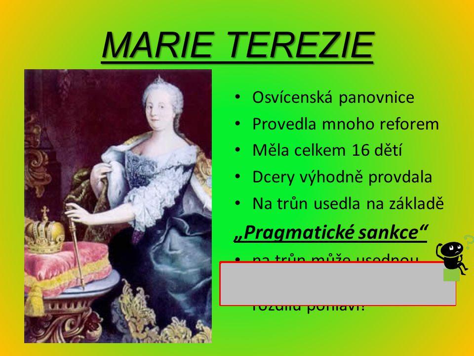 """MARIE TEREZIE """"Pragmatické sankce Osvícenská panovnice"""