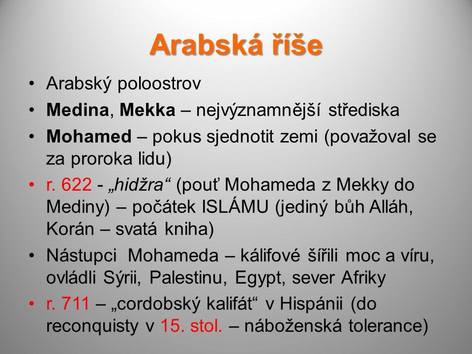 Arabská říše Arabský poloostrov