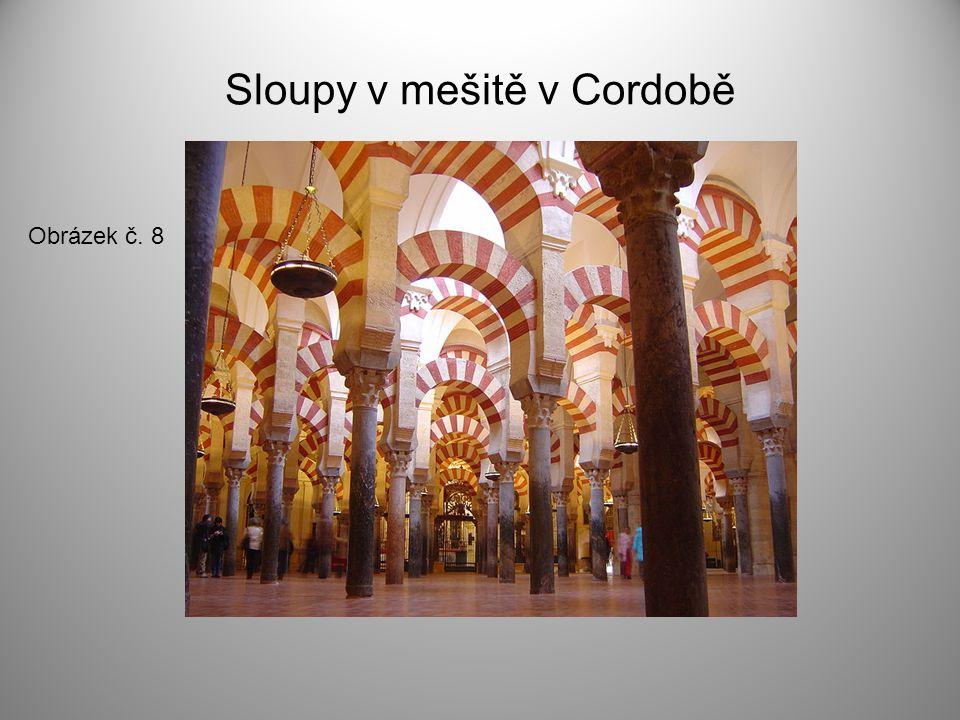 Sloupy v mešitě v Cordobě