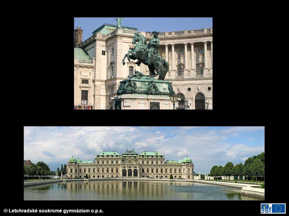Evžen Savojský jezdecký pomník před Hofburgem ve Vídni; Belveder – sídlo, kt.