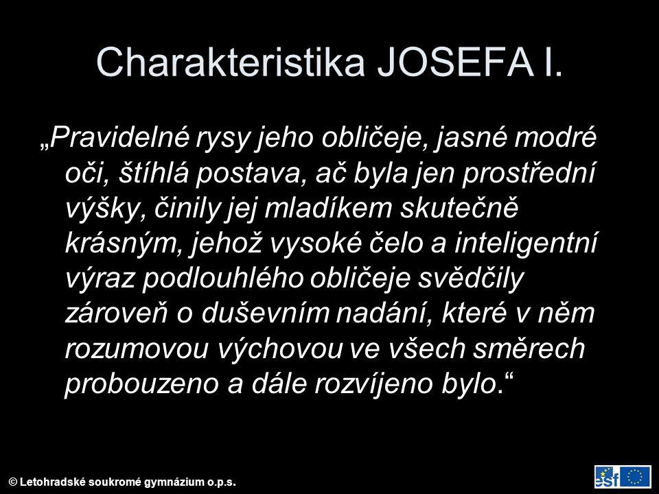 Charakteristika JOSEFA I.