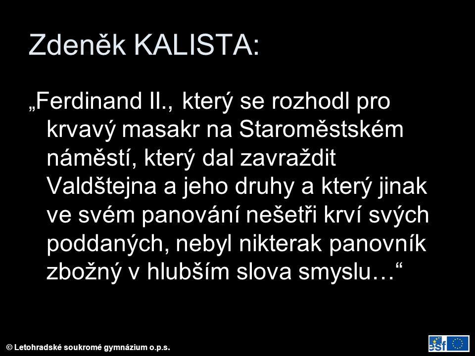 Zdeněk KALISTA: