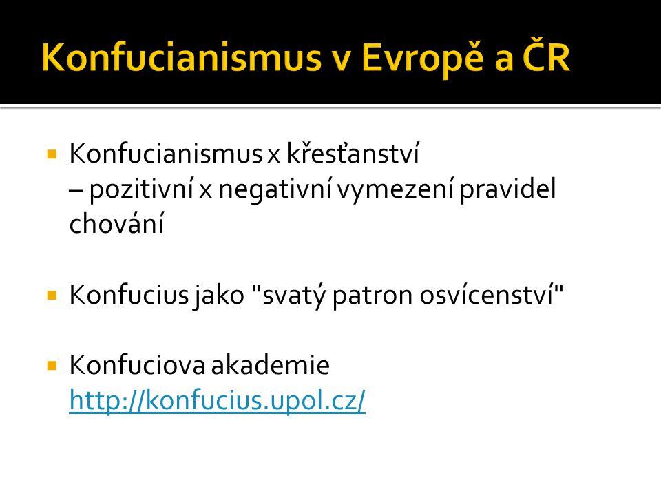 Konfucianismus v Evropě a ČR