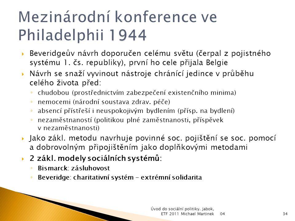 Mezinárodní konference ve Philadelphii 1944