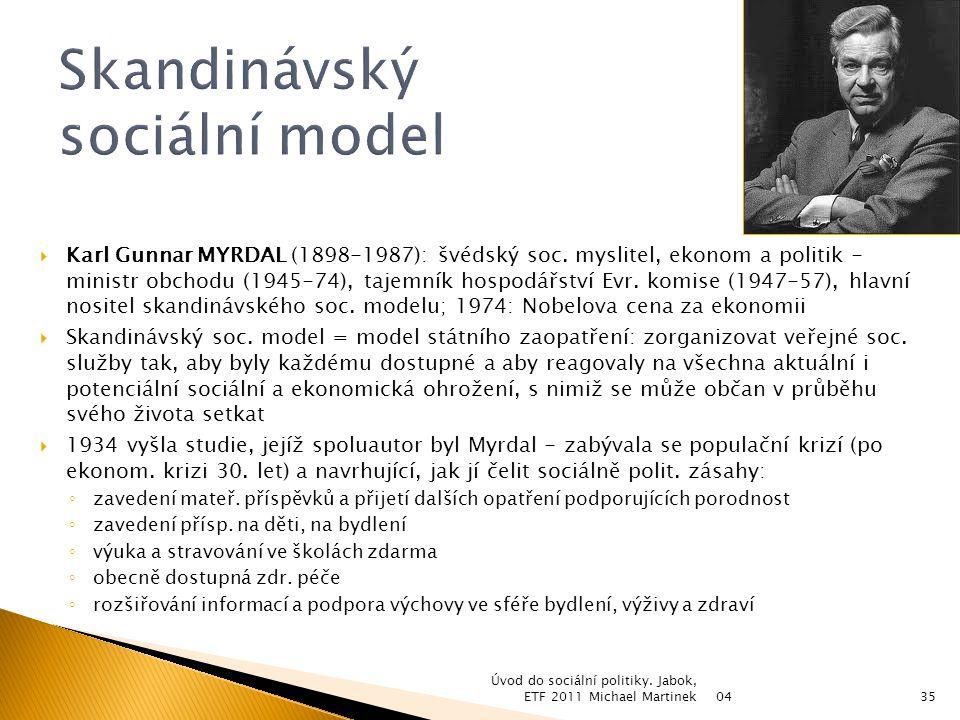 Skandinávský sociální model