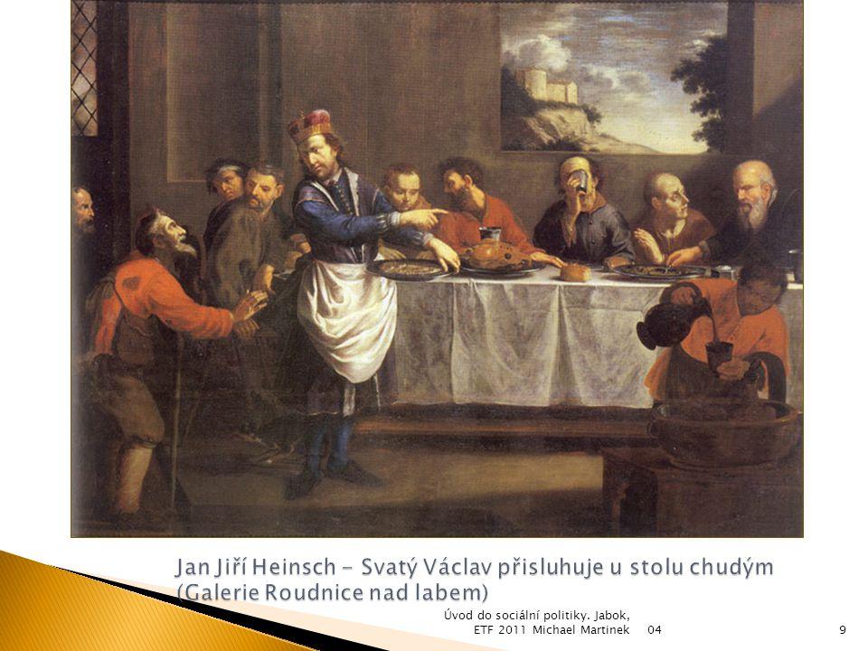 Jan Jiří Heinsch - Svatý Václav přisluhuje u stolu chudým (Galerie Roudnice nad labem)