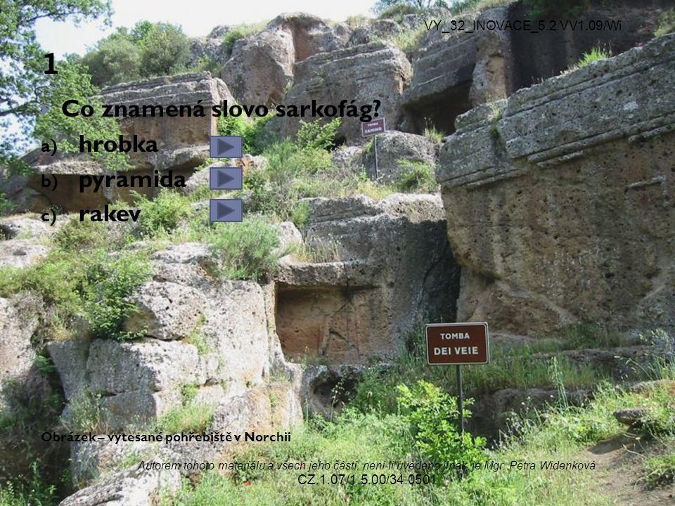 1 Co znamená slovo sarkofág hrobka pyramida rakev