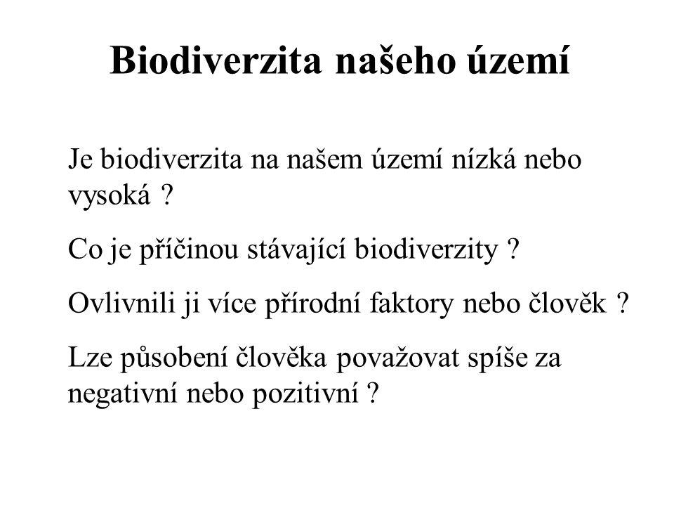 Biodiverzita našeho území