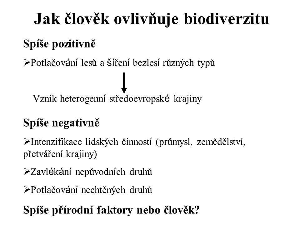 Jak člověk ovlivňuje biodiverzitu