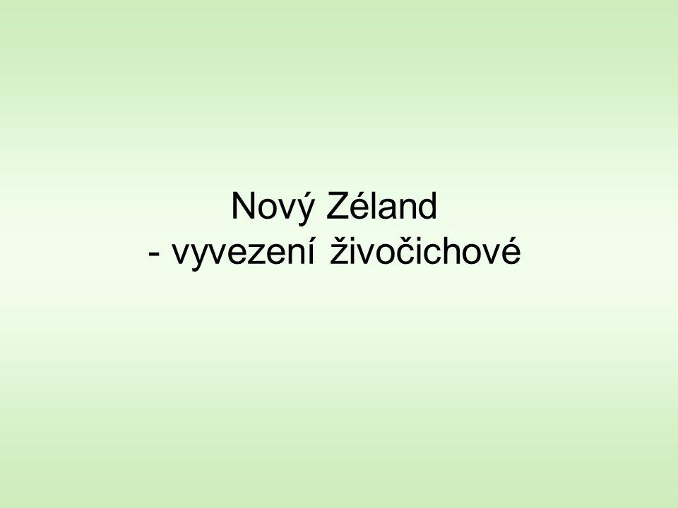 Nový Zéland - vyvezení živočichové