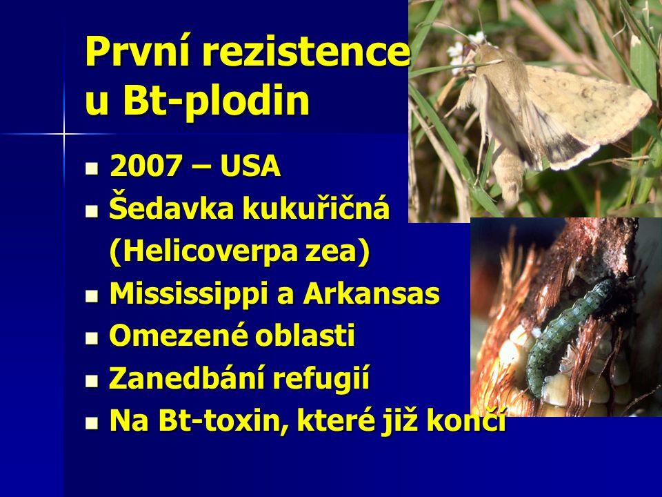 První rezistence u Bt-plodin