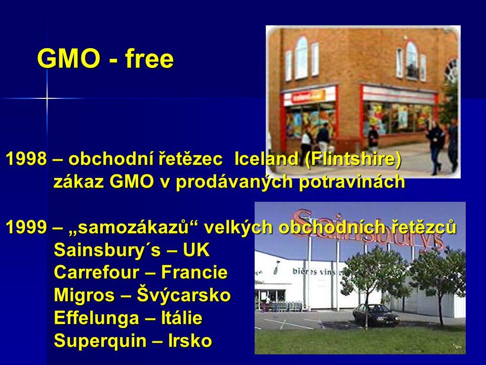 GMO - free 1998 – obchodní řetězec Iceland (Flintshire)