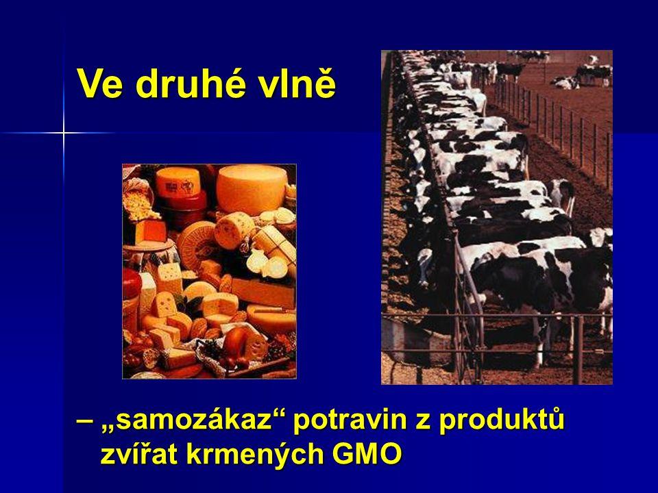 """Ve druhé vlně – """"samozákaz potravin z produktů zvířat krmených GMO"""