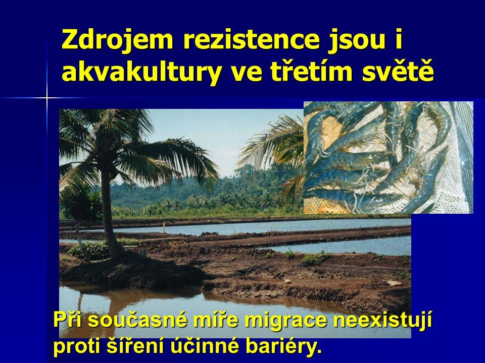 Zdrojem rezistence jsou i akvakultury ve třetím světě