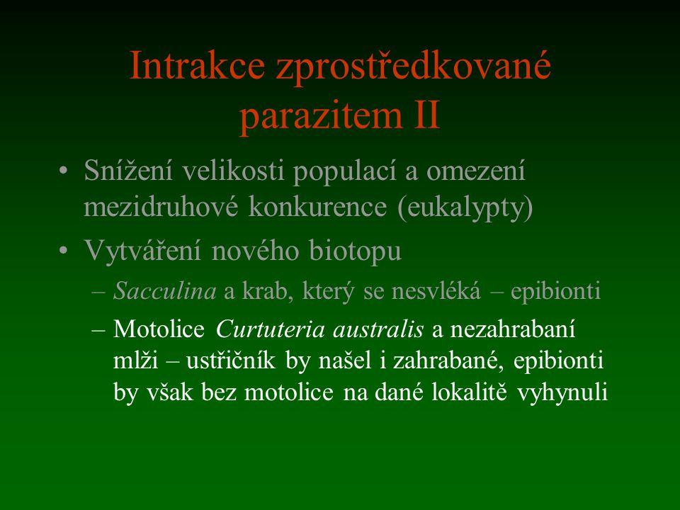 Intrakce zprostředkované parazitem II