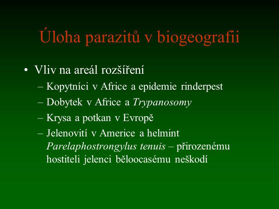 Úloha parazitů v biogeografii