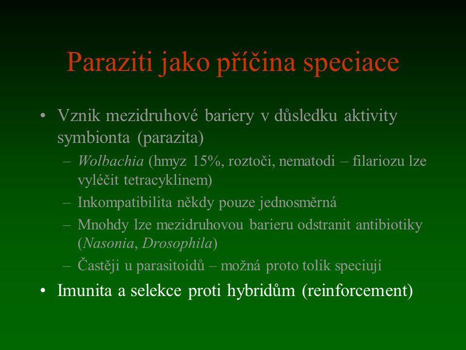Paraziti jako příčina speciace