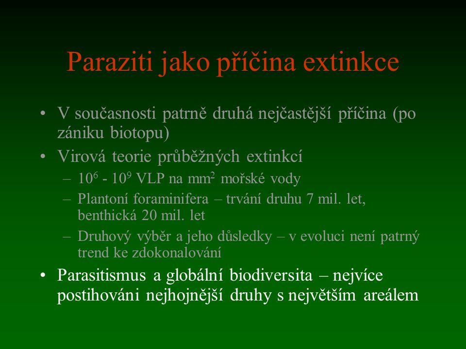 Paraziti jako příčina extinkce
