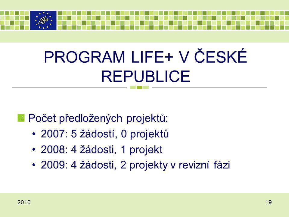 PROGRAM LIFE+ V ČESKÉ REPUBLICE