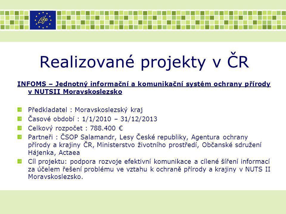 Realizované projekty v ČR