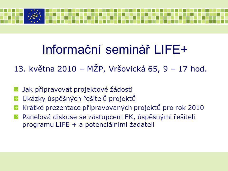 Informační seminář LIFE+