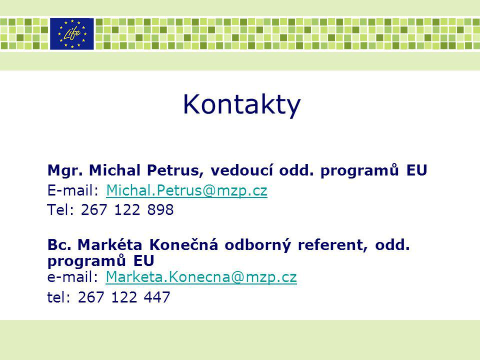 Kontakty Mgr. Michal Petrus, vedoucí odd. programů EU