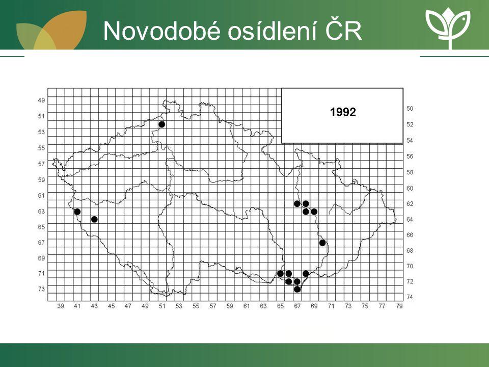 Novodobé osídlení ČR 1992