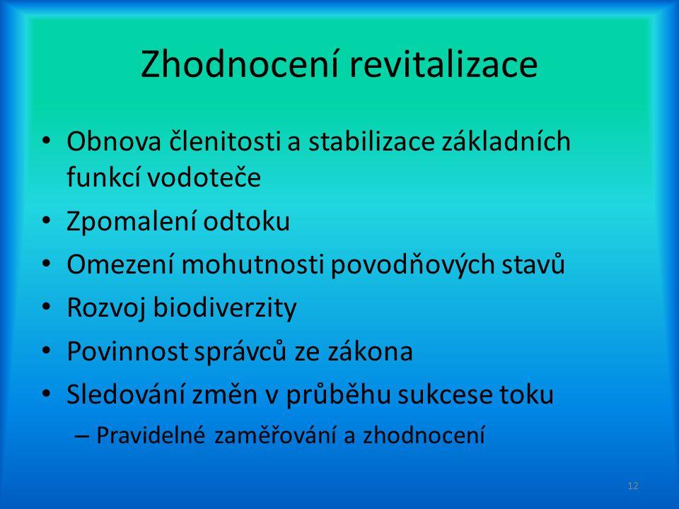 Zhodnocení revitalizace
