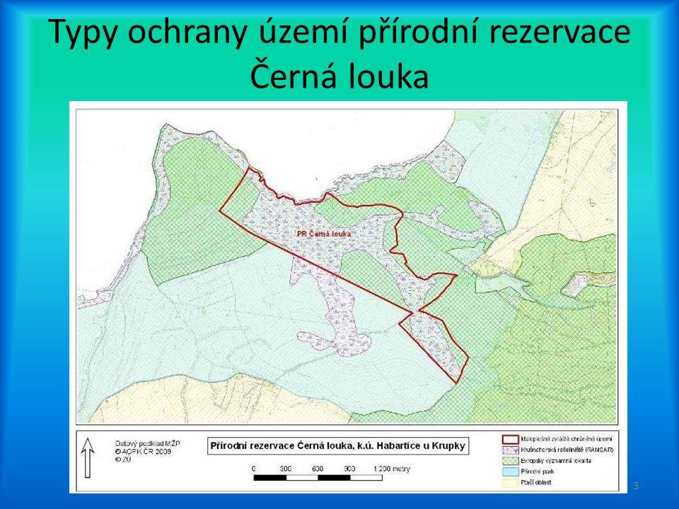 Typy ochrany území přírodní rezervace Černá louka