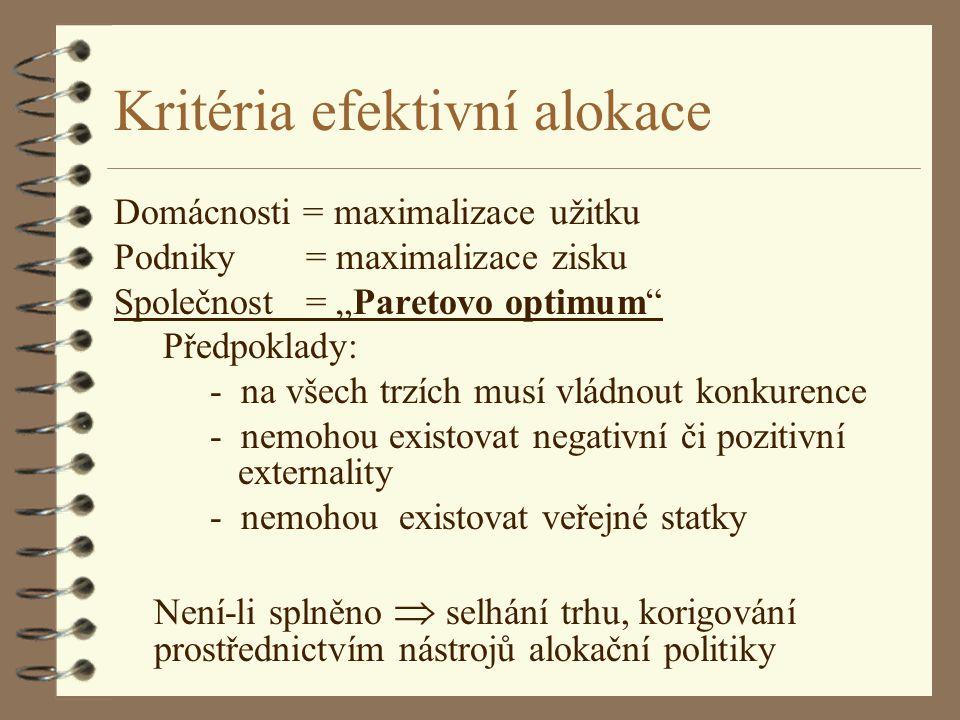 Kritéria efektivní alokace