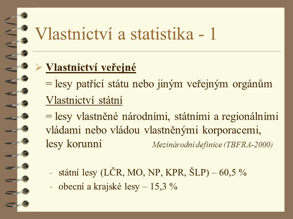 Vlastnictví a statistika - 1