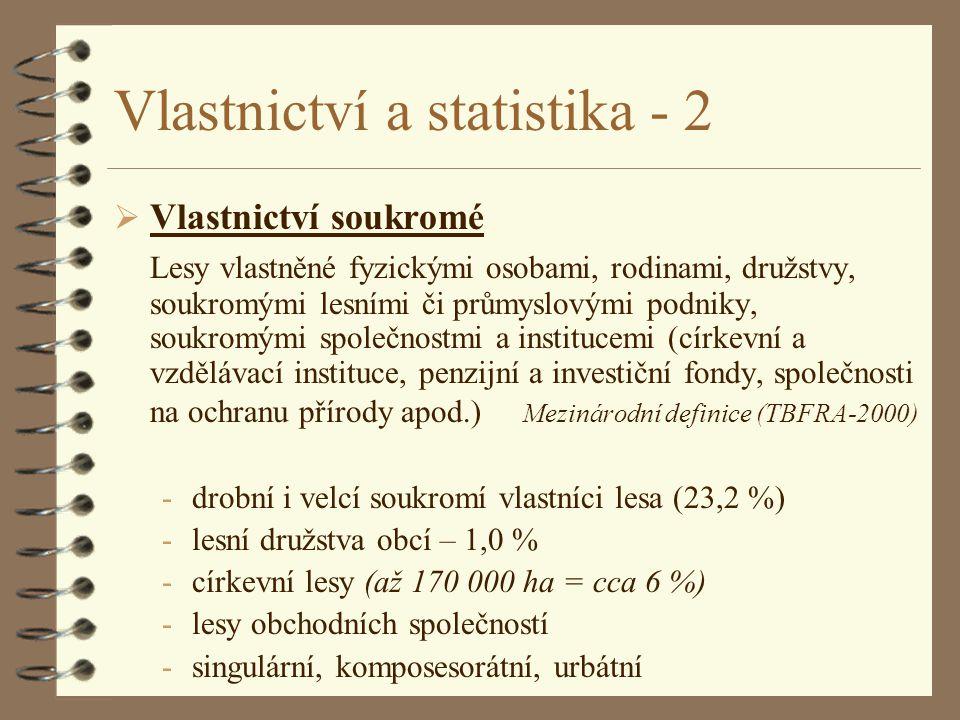 Vlastnictví a statistika - 2