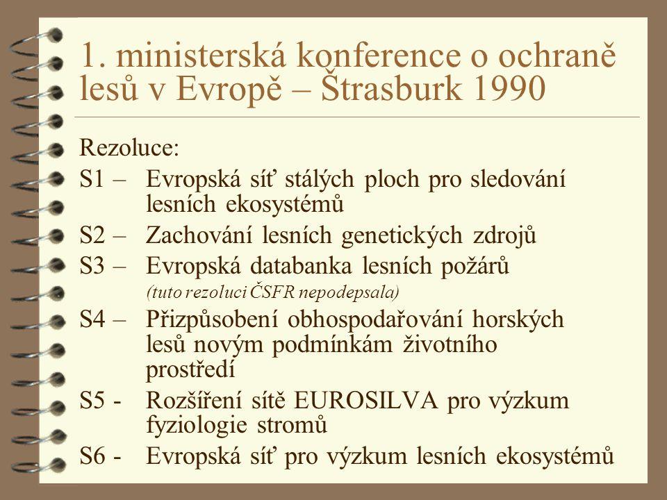 1. ministerská konference o ochraně lesů v Evropě – Štrasburk 1990