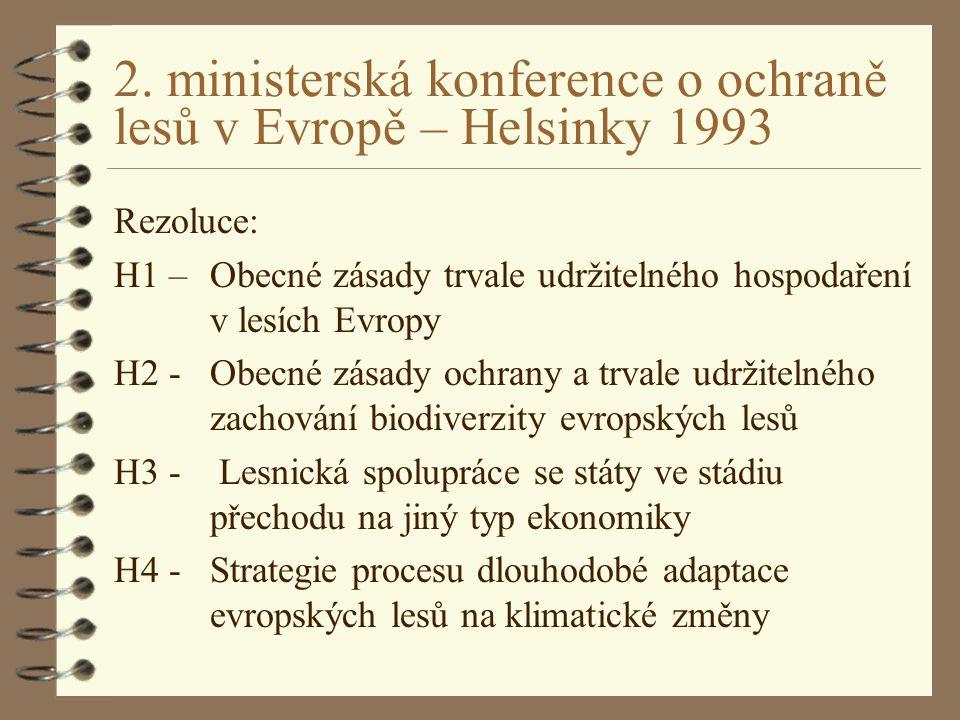 2. ministerská konference o ochraně lesů v Evropě – Helsinky 1993