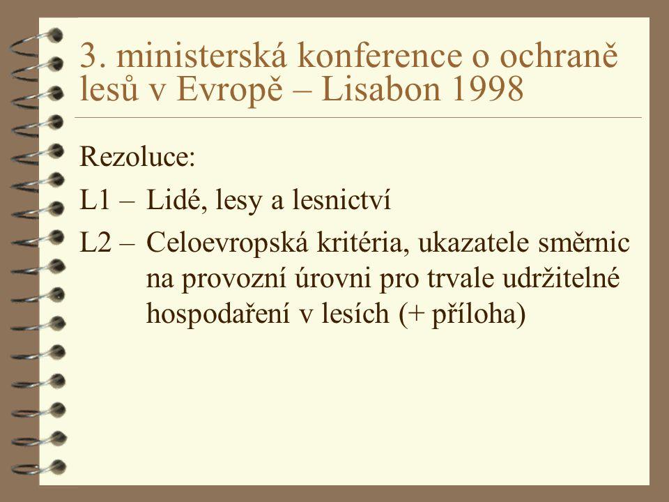 3. ministerská konference o ochraně lesů v Evropě – Lisabon 1998