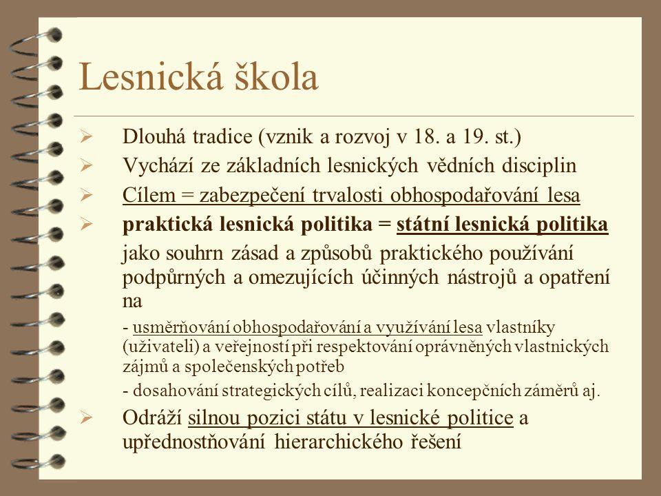 Lesnická škola Dlouhá tradice (vznik a rozvoj v 18. a 19. st.)
